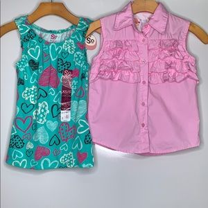CHILDREN'S PLACE & SO Top Pink Green Bundle Set
